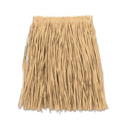 Natural Adult Mini Paper Raffia Hula Skirt (1/Pkg)