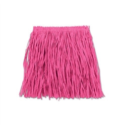 Pink Child Mini Paper Raffia Hula Skirt (1/Pkg)