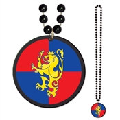Beads with Medieval Crest Medallion (1 Per Package)