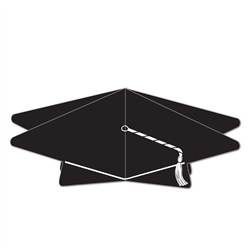 Black 3-D Graduation Cap Centerpiece