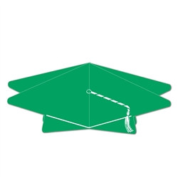 Green 3-D Graduation Cap Centerpiece
