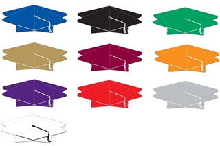 3-D Graduation Cap Centerpiece (Choose Color)