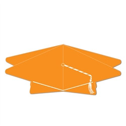 Orange 3-D Graduation Cap Centerpiece