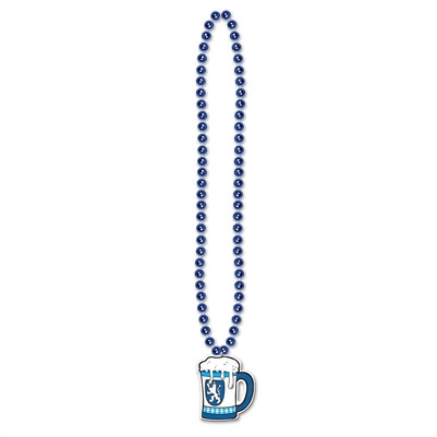 Beads with Beer Stein Medallion
