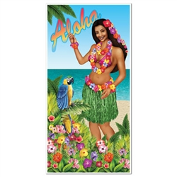 Luau Door Cover