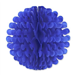 Medium Blue Tissue Flutter Ball, 19 Inches