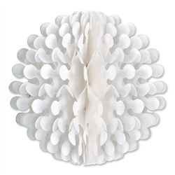 White Tissue Flutter Ball, 19 Inches