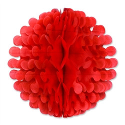 Red Tissue Flutter Ball, 9 Inches
