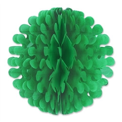 Green Tissue Flutter Ball, 14 Inches