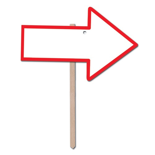 Red Blank Arrow Yard Sign - PartyCheap