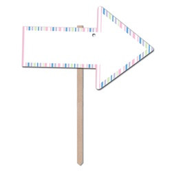 Pastel Blank Arrow Yard Sign
