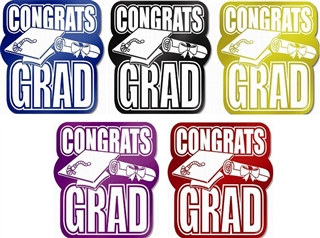 Foil Congrats Graduation Cutout (Choose Color)