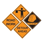 Construction Sign Cutouts (4/pkg)