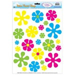Retro Flower Window Clings (12/sheet)