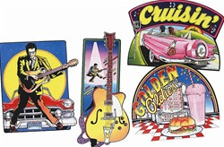 Rock and Roll Cutouts (4/pkg)