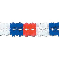 Red, White, and Blue Pageant Garland
