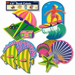 Beach Cutouts (4/pkg)