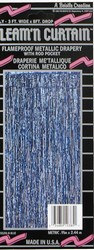 Blue 2-Ply Gleam N Curtain™ Metallic Curtain