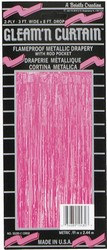 Cerise 2-Ply Gleam N Curtain Metallic Curtain
