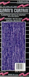Purple 2-Ply Gleam N Curtain Metallic Curtain