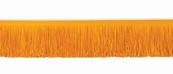 Orange Tissue Fringe Drape