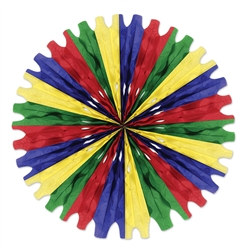 Green, Red, Blue, Canary Tissue Fan
