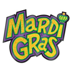 Glittered Mardi Gras Sign