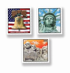 Patriotic Stamp Cutouts
