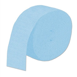Light Blue Flame Retardant Crepe Streamer