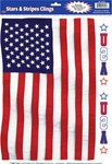 American Flag Window Clings (3/sheet)