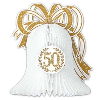 50th anniversary tissue bell centerpiece partycheap. Black Bedroom Furniture Sets. Home Design Ideas