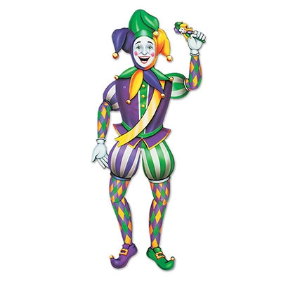 Jointed Mardi Gras Jester PartyCheap