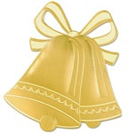 Gold Foil Bell Silhouette