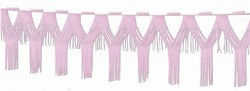 Pink Drop Fringe Garland