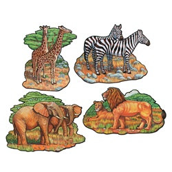 Safari Animal Cutouts (4/pkg)