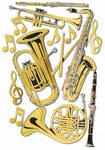 Brass Musical Instrument Cutouts