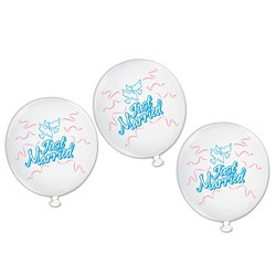 Just Married Balloons (9/pkg)