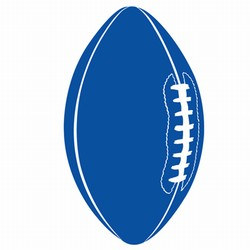 Blue Football Cutout