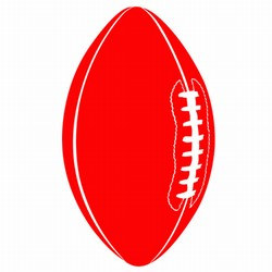 Red Football Cutout, 18 in