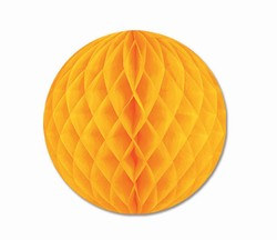 Golden Yellow Art-Tissue Ball, 12 in