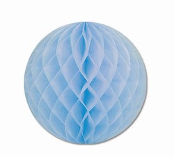 Light Blue Art-Tissue Ball, 12 in