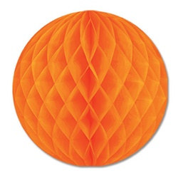 Orange Art-Tissue Ball, 12 in