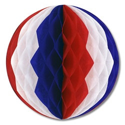 Red, White, and Blue Art-Tissue Ball, 14 in