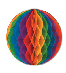 Rainbow Art-Tissue Ball, 19 in