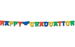 Foil Happy Graduation Streamer