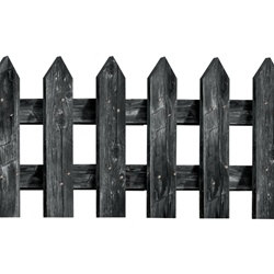 Black Picket Fence Cutouts (3/pkg)