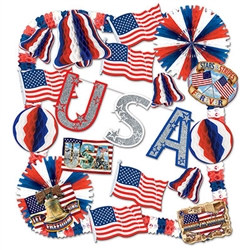 Flame Retardant Patriotic Decorating Kit