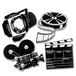 Black and White Hollywood Movie Set Cutouts