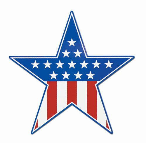 Red White And Blue Star Cutout PartyCheap