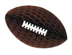 Brown Tissue Football with Laces, 12in